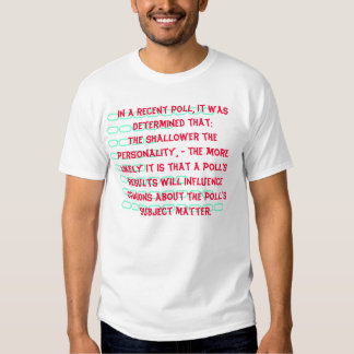 Do Polls Determine What you Ultimately Think? Shirt