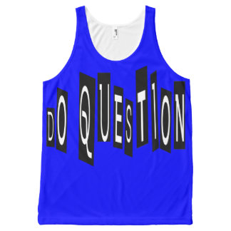 Do Question All-Over Printed Unisex Tank, L All-Over-Print Tank Top