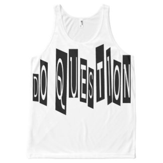 Do Question All-Over Printed Unisex Tank, L All-Over Print Tank Top