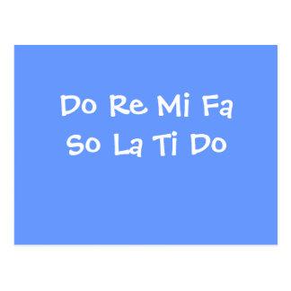 Do Re Mi Fa So La Ti Do Post Card