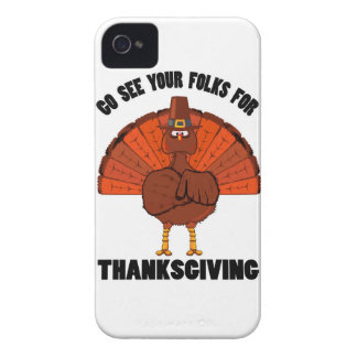 Do See Your Folks For Thanksgiving iPhone 4 Case-Mate Case
