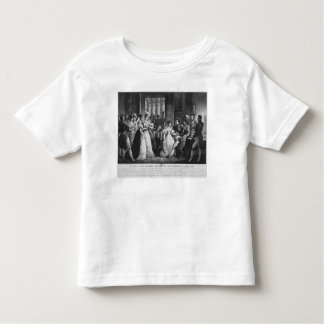 Do sit down on my knees, it will bother no toddler t-shirt
