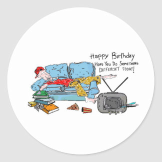 Do Something Different Birthday Round Sticker