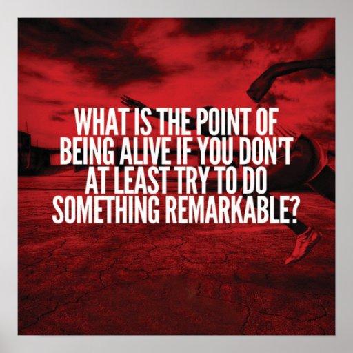 Do Something Remarkable - Workout Motivational Poster