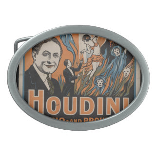 Do spirits return? Houdini says no - and proves it Oval Belt Buckle