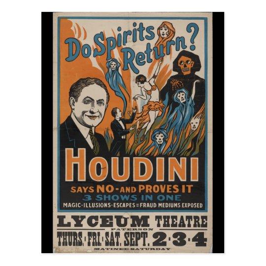 Do Spirits Return? Houdini Says No And Proves It Postcard