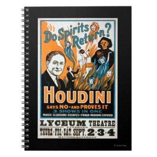Do Spirits Return? Houdini Says NO - Proves It Notebooks