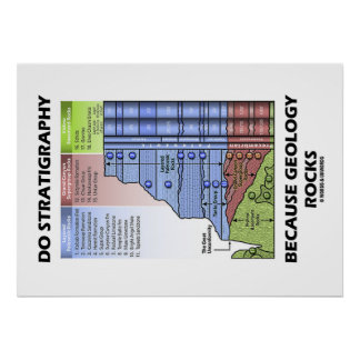 Do Stratigraphy Because Geology Rocks Grand Canyon Poster