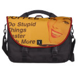 Do Stupid Things Faster Coffee Commuter Bag