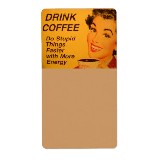 Do Stupid Things Faster Coffee Personalized Shipping Label
