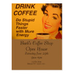 Do Stupid Things Faster Coffee Post Cards