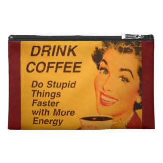 Do Stupid Things Faster Coffee Travel Accessory Bags