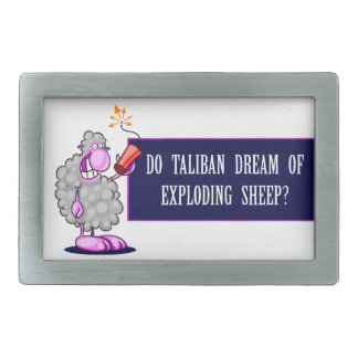 Do Taliban Dream of Exploding Sheep Rectangular Belt Buckles