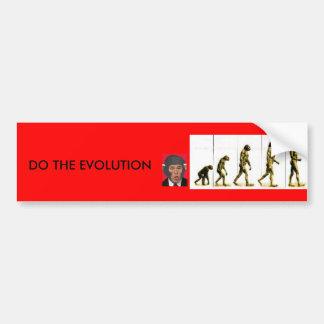 DO THE EVOLUTION CAR BUMPER STICKER