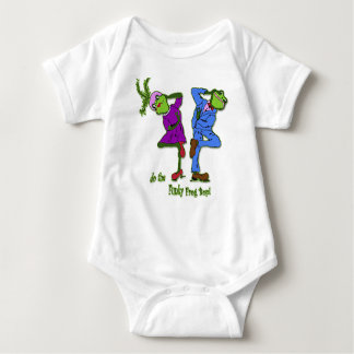 do the Funky Frog Bop! Baby Bodysuit