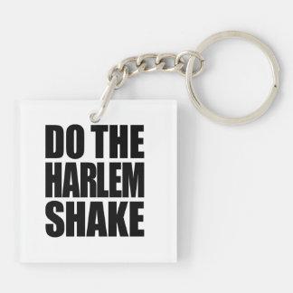 Do The Harlem Shake Square Acrylic Keychain