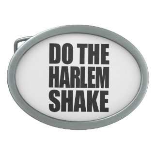Do The Harlem Shake Oval Belt Buckle