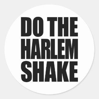 Do The Harlem Shake Round Stickers