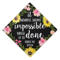 Do the Impossible   Custom Class Year Graduation Cap Topper
