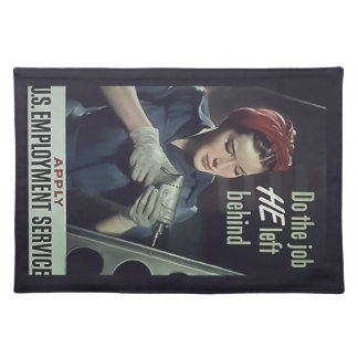 Do The Job He Left Behind ~ WW II Poster 1942-1945 Placemat