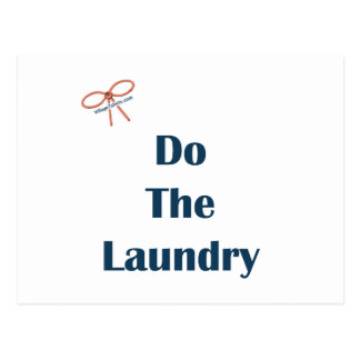 Do The Laundry Reminders Postcard