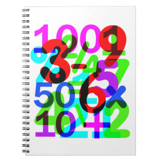 Do The Math Fun Colorful Numbers Typography Notebook