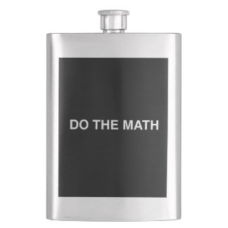 Do The Math Hip Flask
