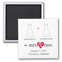 Do the Math Lesbian Save the Date Magnet