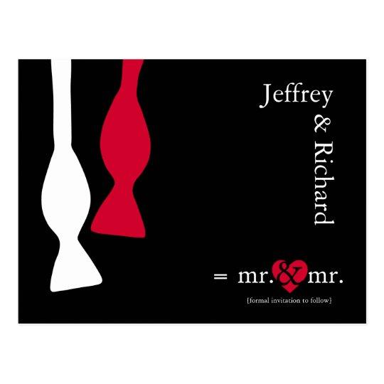 Do the Math Mr & Mr Postcard