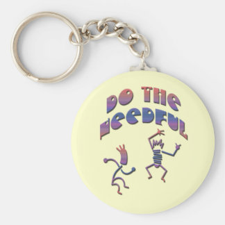 Do the Needful 7 Basic Round Button Keychain