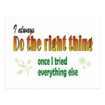 Do the next right thing postcard