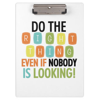 Do the Right Thing Clipboard