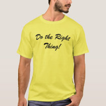 Do the Right Thing Go Vegan t-shirt (2 sides)