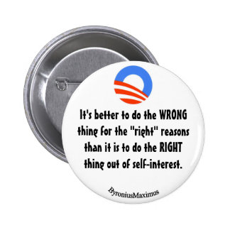 Do the right thing! pinback button
