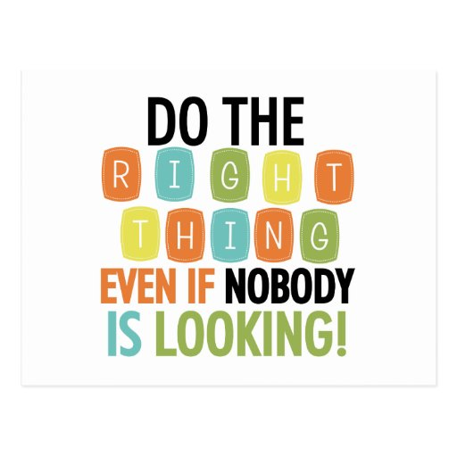 Do The Right Thing Postcards