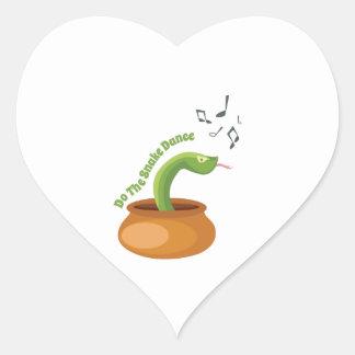Do The Snake Dance Heart Sticker