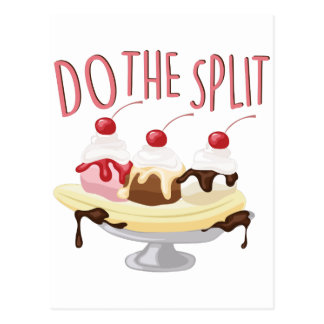 Do The Split Postcard