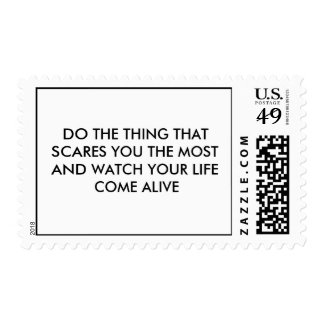 DO THE THING THAT SCARES YOU THE MOST AND WATCH... STAMP