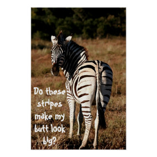 """Do these stripes make my butt look big?"" poster"