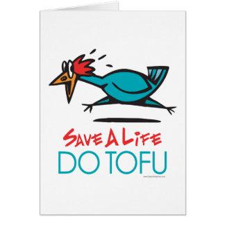 Do Tofu Vegan Vegetarian Card