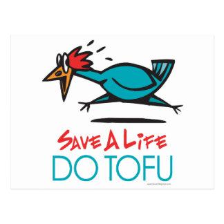 Do Tofu Vegan Vegetarian Postcard