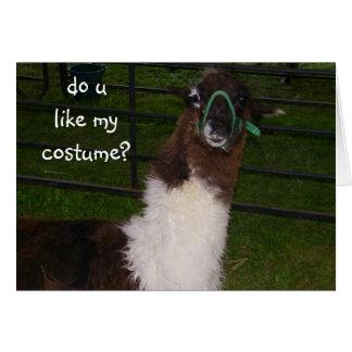 DO U LIKE MY COSTUME=HALLOWEEN CARD