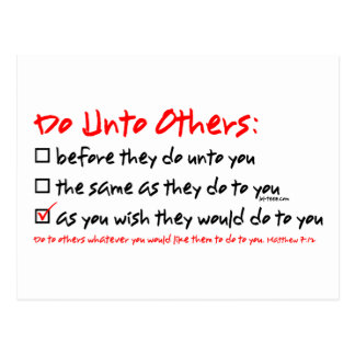 Do Unto Others Postcard