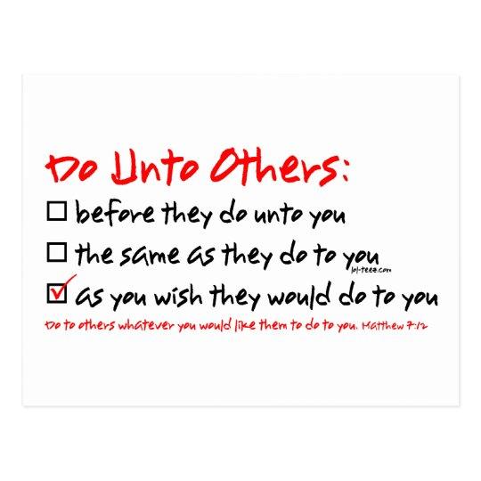 Do Unto Others Postcard