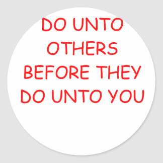 do unto others sticker