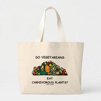 Do Vegetarians Eat Carnivorous Plants? (Humor) Large Tote Bag