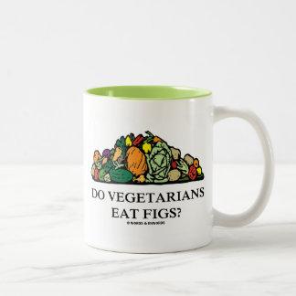 Do Vegetarians Eat Figs? (Pile Of Vegetables) Two-Tone Coffee Mug