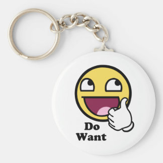 Do Want Awesome Face Smiley Keychain