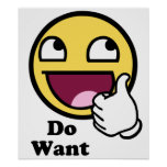Do Want Awesome Face Smiley Print