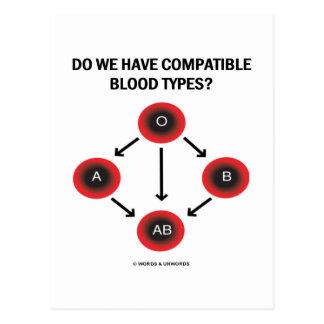 Do We Have Compatible Blood Types? (Medicine) Postcard
